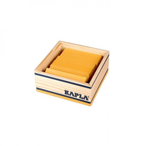 Jeu de construction en bois KAPLA Lot de 40 planchettes jaunes