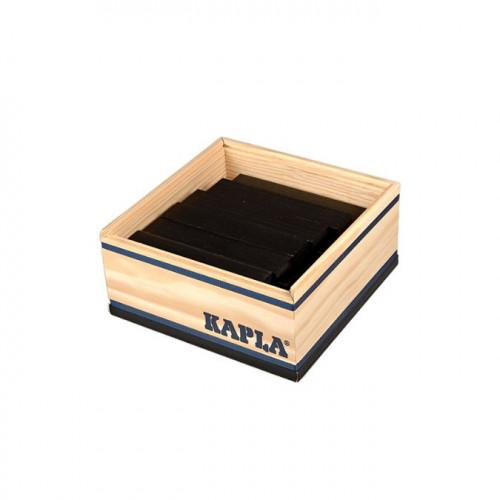 Jeu de construction en bois KAPLA Lot de 40 planchettes noires