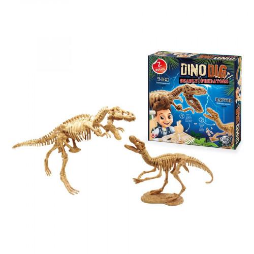 Jeu de paléontologie - Dino Dig T-Rex et Raptor