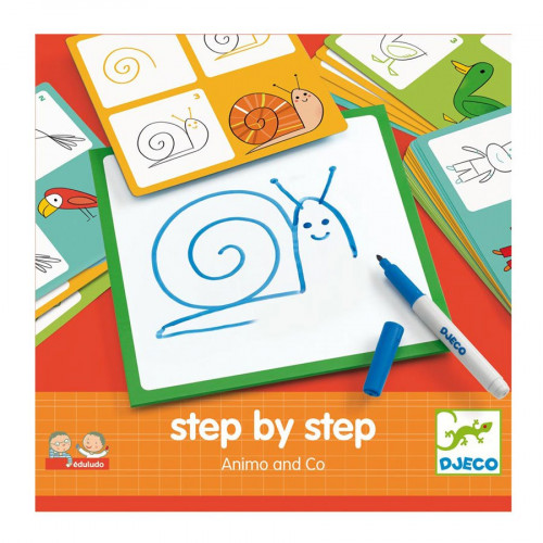 Jeu éducatif - Step by step Animals and Co- Apprendre à dessiner