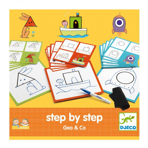 Jeu éducatif - Step by step Geo and Co - Apprendre à dessiner