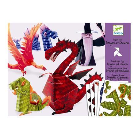 Jouets en papier - Dragons et chimères