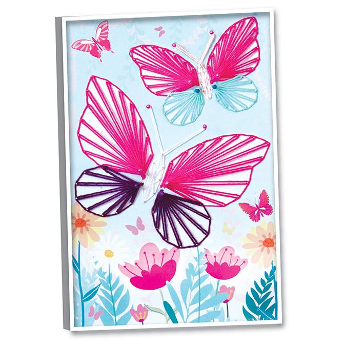 Fil'Art Papillon - tableau en fils