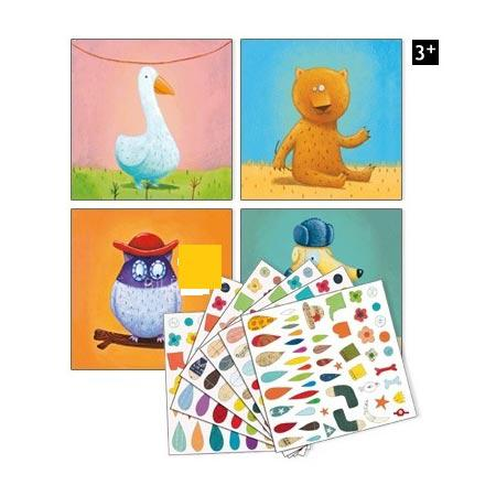 Créer avec des stickers - Animaux