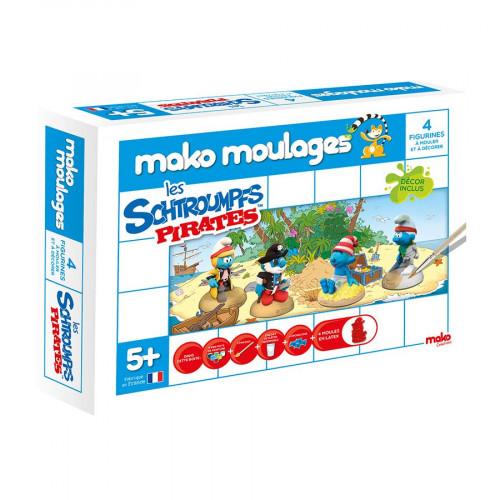 Mako Moulages - Schtroumpfs pirates - 4 moules