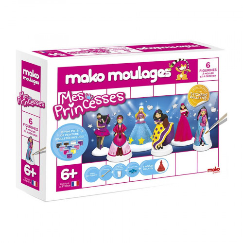 Mako Moulages - Mes princesses - 6 moules
