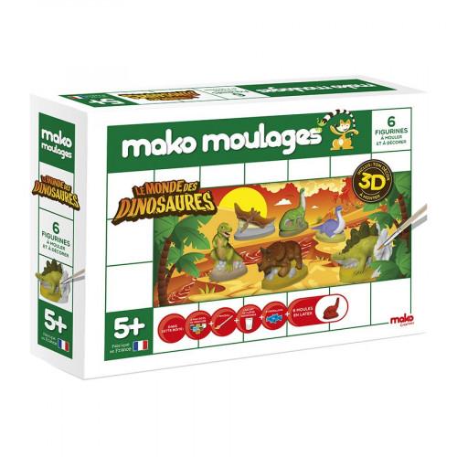 Mako Moulages - Le monde des dinosaures - 6 moules