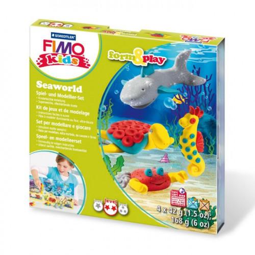 Kit de modelage Fimo Kids Monde marin