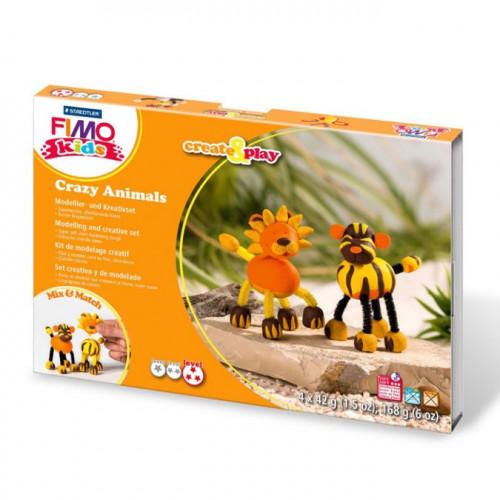Kit de modelage Fimo Kids Lion et tigre