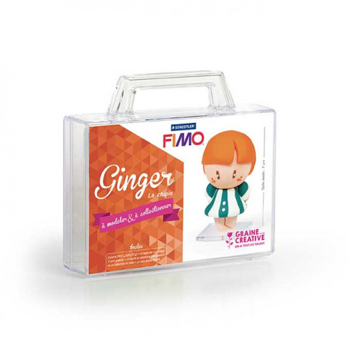 Kit de modelage Fimo Figurine Ginger La Chipie