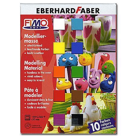 Coffret Fimo Soft - 10 pains de 25 g