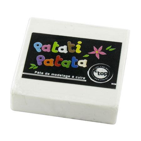 Pâte à modeler polymère Patati Patata - blanc - 50 g