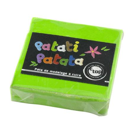 Pâte à modeler polymère Patati Patata - vert clair - 50 g