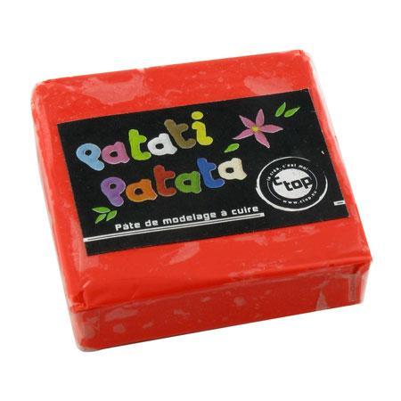 Pâte à modeler polymère Patati Patata - rouge - 50 g