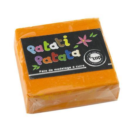 Pâte à modeler polymère Patati Patata - orange - 50 g
