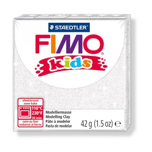 Fimo Kids - Blanc Pailleté - 42 g