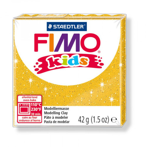 Fimo Kids - Or Pailleté - 42 g