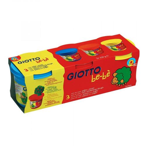 Pots de 220 ml de pâte à jouer Giotto Be-bè