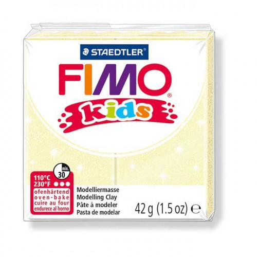 Pâte à modeler Fimo Kids jaune perle - 42 g