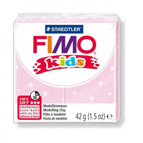 Pâte à modeler Fimo Kids rose perle - 42 g
