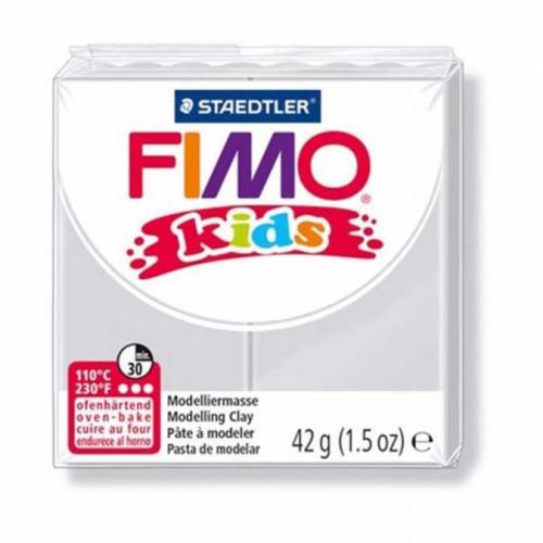 Pâte à modeler Fimo Kids gris clair - 42 g