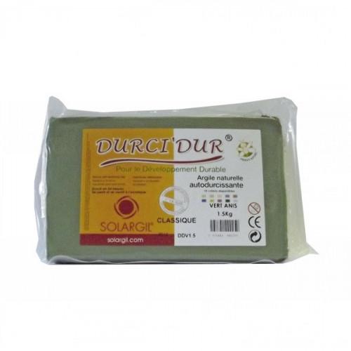 Argile Durci'Dur auto-durcissante 1kg Vert