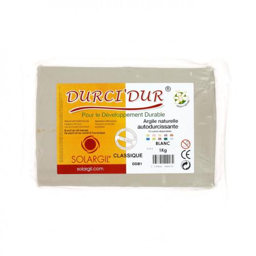 Argile Durci'Dur auto-durcissante 1kg Blanc