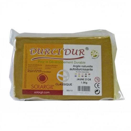 Argile Durci'Dur auto-durcissante 1kg Jaune d'or