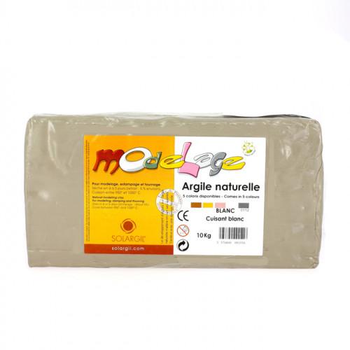 Argile à cuire lisse 10kg Blanc