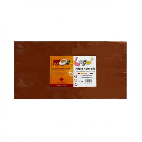 Argile à cuire chamotée 10kg Rouge