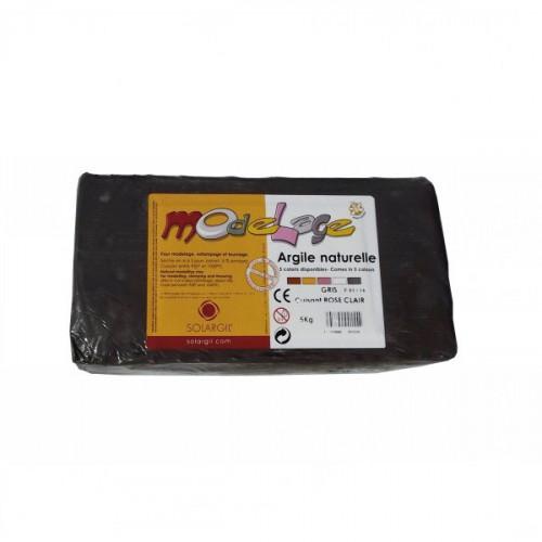 Argile à cuire lisse 5kg Gris