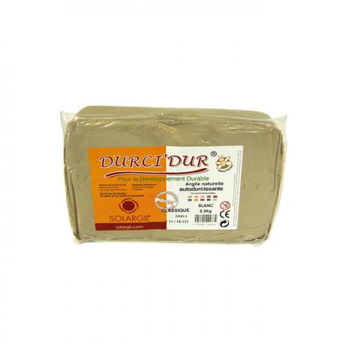 Argile blanche Durci'Dur auto-durcissante 2,5 kg