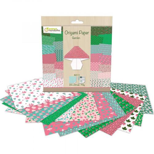 Papier Origami thème Jardin