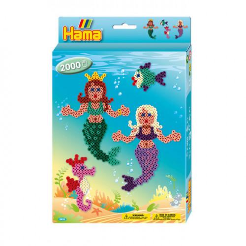 Kit perles à repasser midi Sirènes