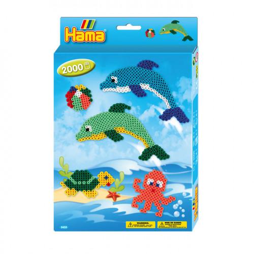 Kit perles à repasser midi animaux marins