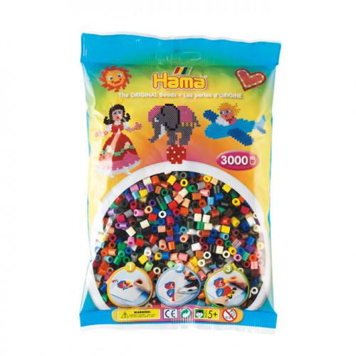 3000 perles à repasser midi multicolor