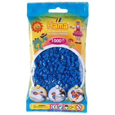 Perles Hama midi x 1000 - Bleu foncé