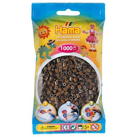 Perles Hama midi x 1000 - Marron