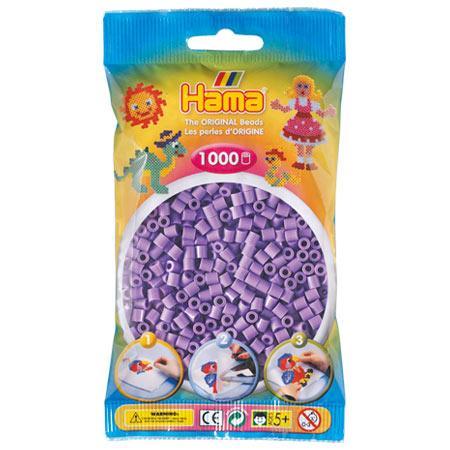 Perles Hama midi x 1000 - Violet pastel