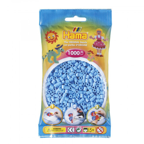 Perles à repasser Midi x 1000 - Bleu pastel
