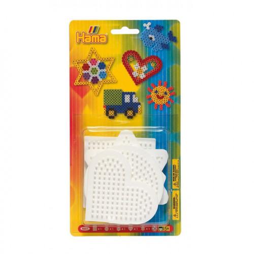 Plaques pour perles à repasser Midi - Formes géométriques - 5 pcs