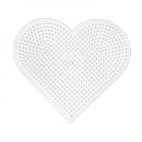 Plaque pour perles à repasser Mini - Cœur - 8 x 8 cm