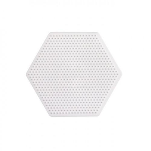 Plaque pour perles à repasser Mini - Hexagone - 8,5 x 7,5 cm