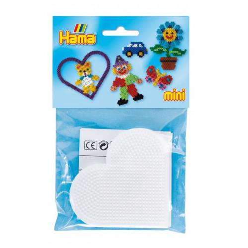 Plaques pour perles à repasser Mini - Cœur - 2 pcs