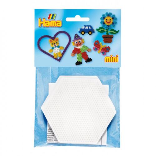Plaques pour perles à repasser Mini - Hexagone - 2 pcs