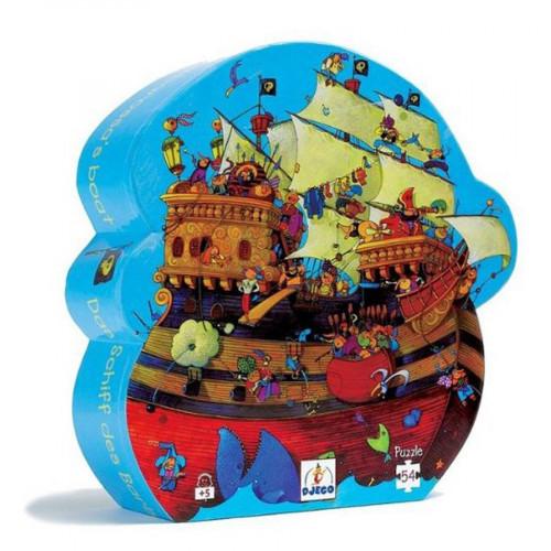 Puzzle (boîte silhouette) - Le bateau de Barberousse - 54 pcs