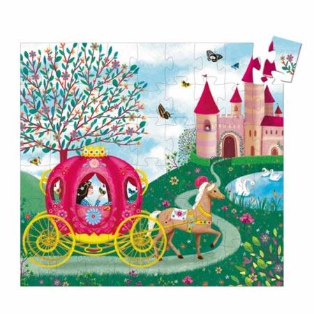 Puzzle (boîte silhouette) - Le carrosse d'Elise - 54 pcs