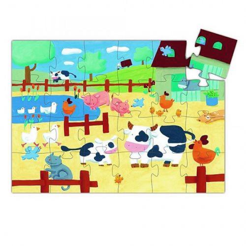 Puzzle Les vaches à la ferme - 24 pcs