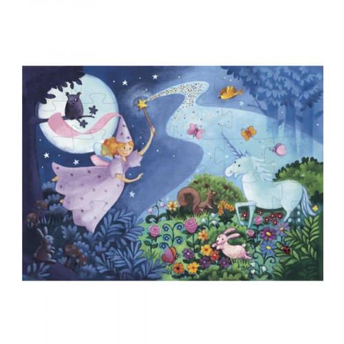 Puzzle La fée et la licorne - 36 pcs