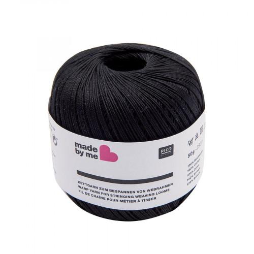 Fil de chaîne - noir - 50 g